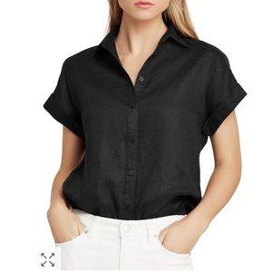 Ralph Lauren Dolman-Sleeve Button-Down Shirt Sz. M